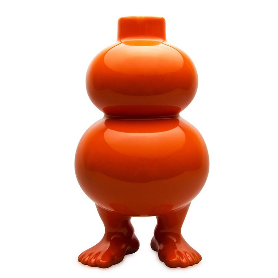 Оранжевая ваза на ножках