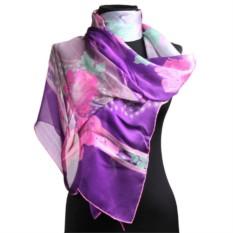 Модный яркий палантин в фиолетовых тонах Leonard