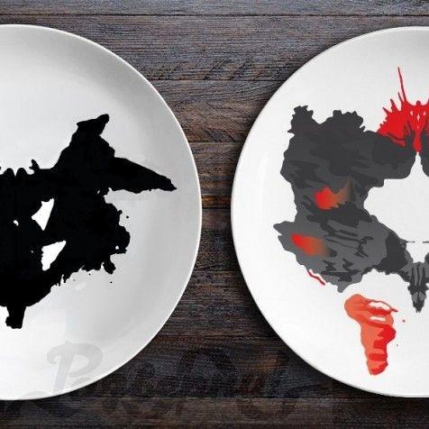Набор тарелок Ужин с Роршахом. Ниндзя/Бабочка