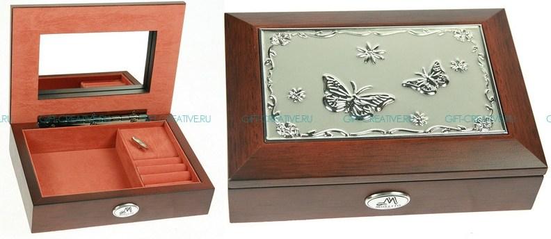 Шкатулка ювелирная Бабочка