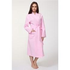 Розовый вафельный халат Convinto Lungo