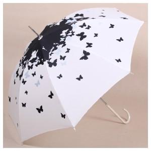 Зонт Black butterflies