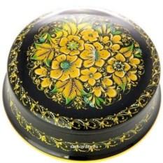 Коробка с росписью Золотая хохлома