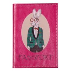 Обложка для паспорта Модные звери. Заяц