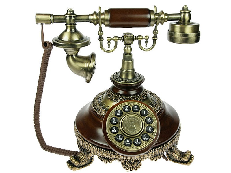 Темно-коричневый телефон Ретро