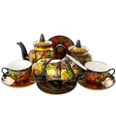 Чайный сервиз с росписью Хохлома классическая