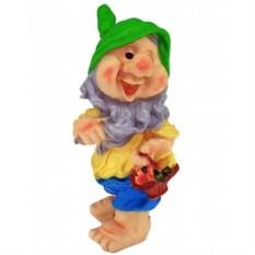 Садовая фигура Гном с корзиной