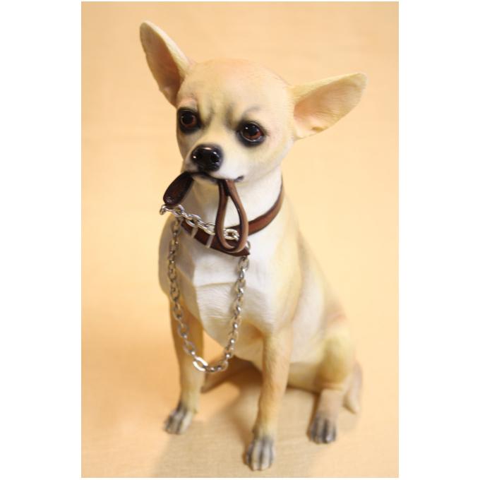 Статуэтка собаки «Чиа хуа хуа с поводком»