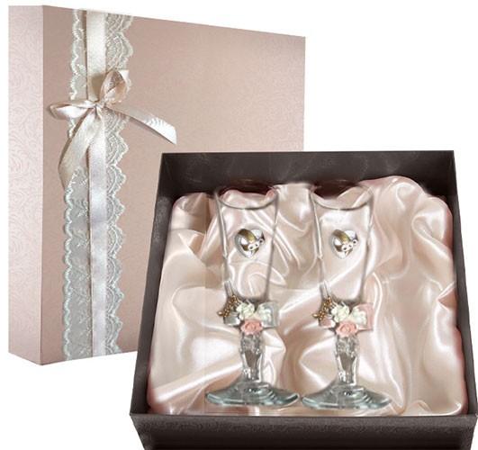 Набор свадебных бокалов Ретро №26 в подарочной коробке