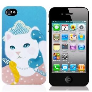 Чехол для iPhone 4/4S Кошка у аппарата
