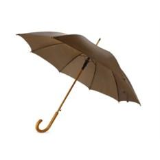 Полуавтоматический зонт-трость «Радуга» коричневого цвета