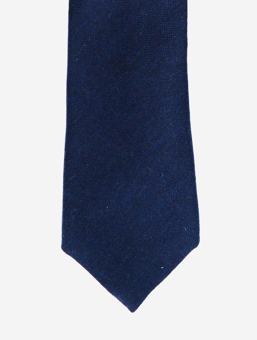 Тёмно-синий кашемировый галстук Calabrese