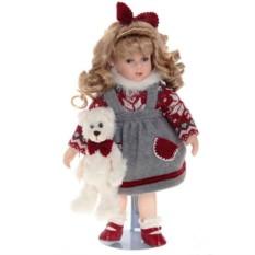 Кукла Анютка с мишкой