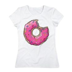 Женская футболка Пончик Гомера