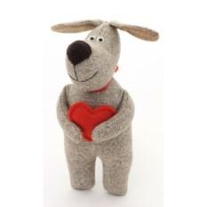 Мягкая игрушка Собачка с сердечком