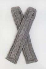 Перчатки-рукава Хана серые