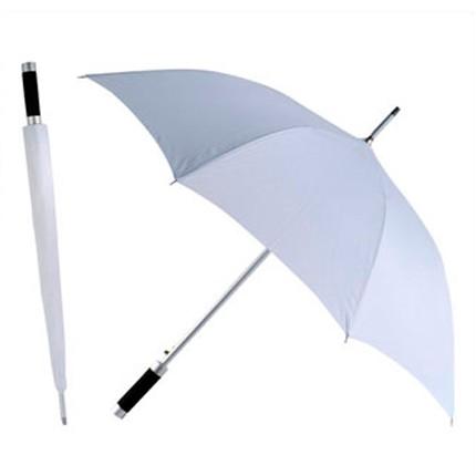 Зонт-трость Rumba, полуавтомат в чехле, белый
