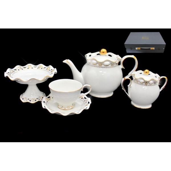 Фарфоровый чайный сервиз из 17 предметов Элегия от Lenardi