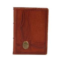 Ежедневник кожаный с камнем Яшма