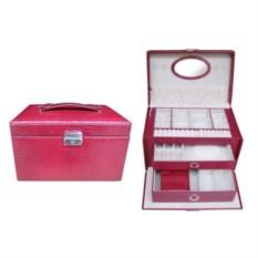 Розовая шкатулка для украшений и часов с дорожным футляром