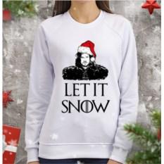 Женский свитшот Let it snow
