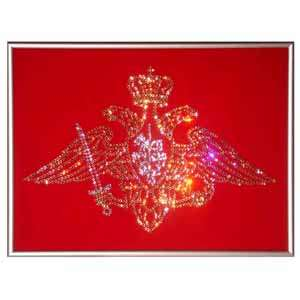 Хрустальная картина «Эмблема Вооруженных Сил»