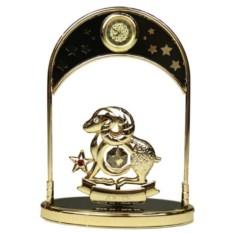 Декоративная фигурка с часами - знак Зодиака Овен