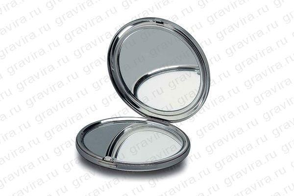 Карманное зеркало с гравировкой
