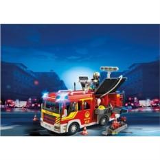 Конструктор Пожарная машина со светом и звуком