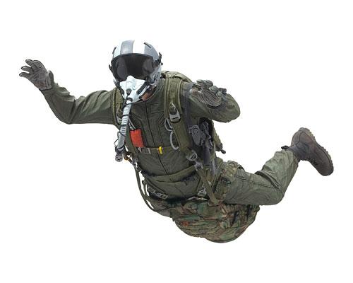 Милитари серия 7 — Парашютист ВВС, фигурка