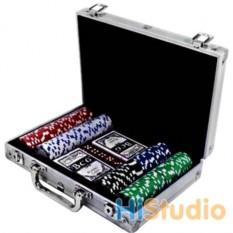 Покер из 200 фишек в кейсе