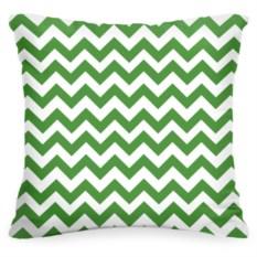 Декоративная подушка «Зелёный Зиг-заг»