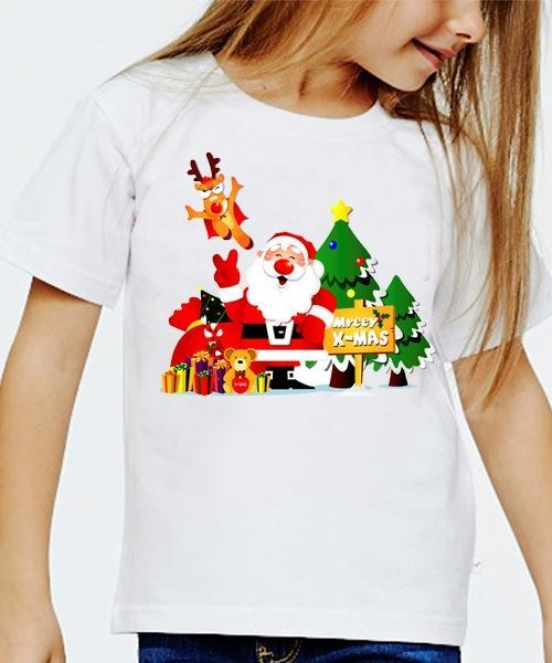 Детская футболка Дед Мороз с подарками