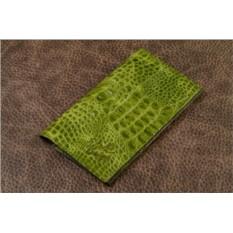 Кошелек из кожи Elole Design (зеленый, крокодил)