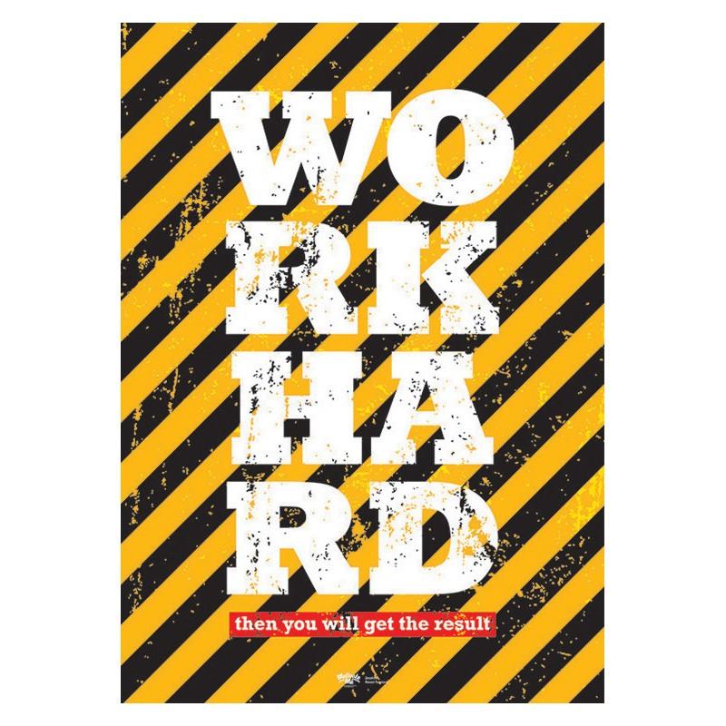 Постер Work Hard А2