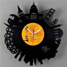 Часы из виниловой пластинки  Сан-Франциско
