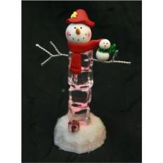 Новогодняя композиция Снеговик