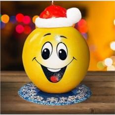 Новогодняя свеча «Смайлик»