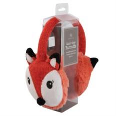 Вязаные красные согревающие наушники Aroma Home Fox