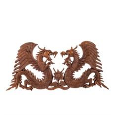 Резное панно Два дракона