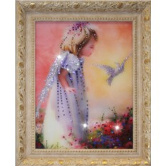 Картина с кристаллами Swarowski Детство