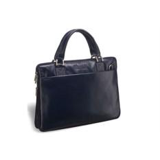 Деловая темно-синяя сумка Slim-формата Brialdi Ostin