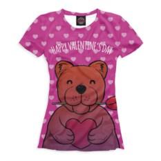 Женская футболка Медвежонок с сердечком