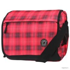 Красная в клетку сумка Polar School