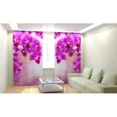 Фотошторы Розовые орхидеи-2