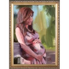 Красивый портрет для беременной девушки