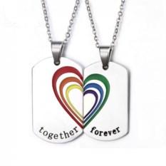 Парное ожерелье Радужное Сердце