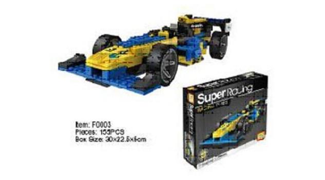 Конструктор Super Racing из 162 деталей