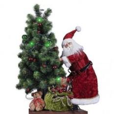 Новогоднее интерьерное украшение Дед Мороз с елкой