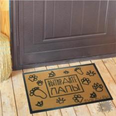 Коврик для двери Вытирайте лапы